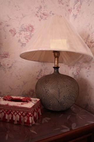 混搭风格一室一厅温馨台灯旧房改造设计图