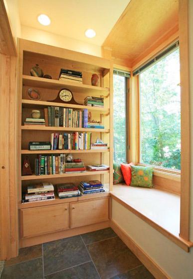 田园风格实用书房飘窗榻榻米图片