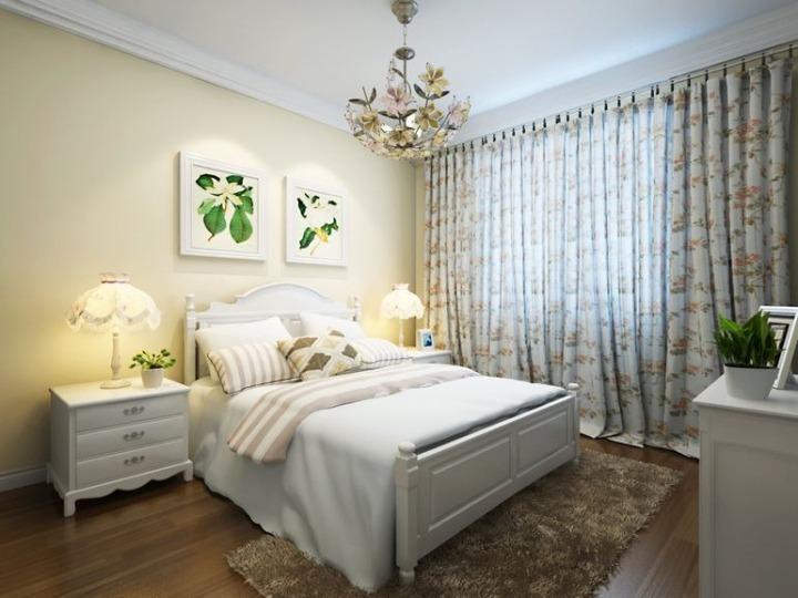 简约风格简洁板式床图片