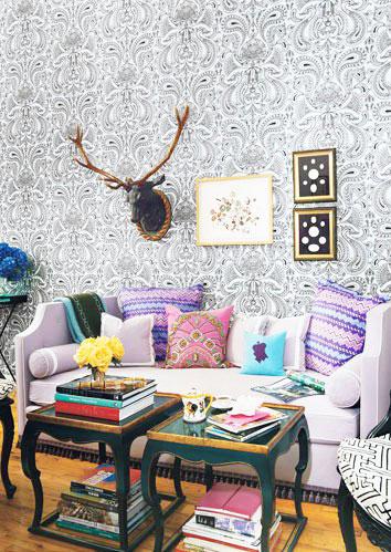 舒适客厅布艺沙发效果图