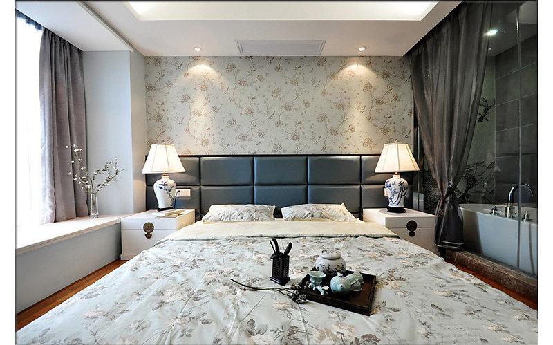 125㎡仙境中式3居婚房浪漫卧室装修效果图,室内设计效果图 齐家装高清图片