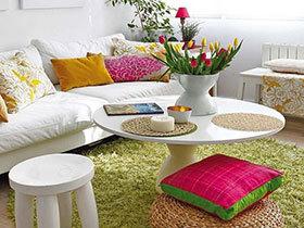 让家圆满和谐 14种圆形茶几设计效果图