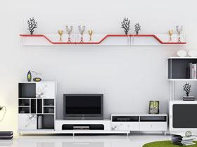 14款電視柜效果圖 電視墻也要很簡約