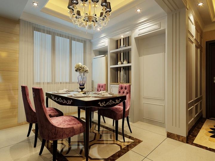 欧式风格简洁餐桌效果图图片