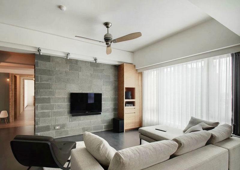 简约风格实用电视背景墙设计图纸图片