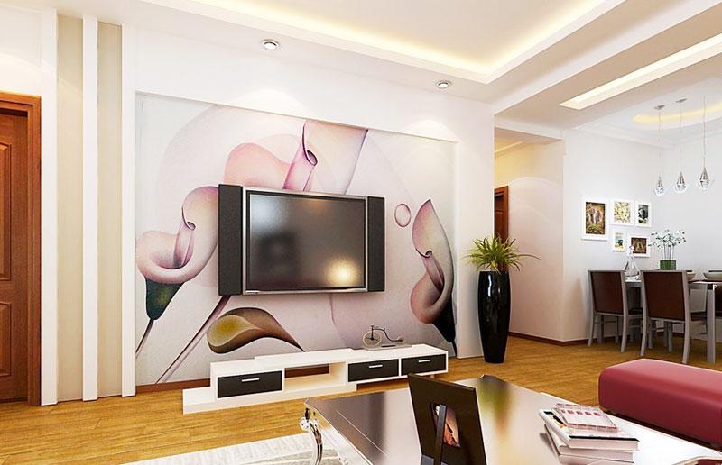 大气电视背景墙效果图