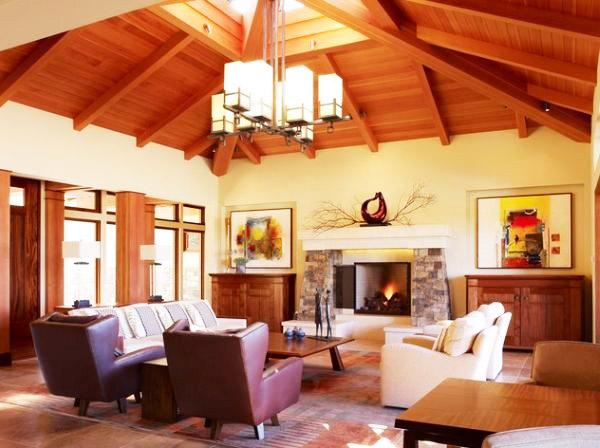美式风格客厅客厅灯效果图