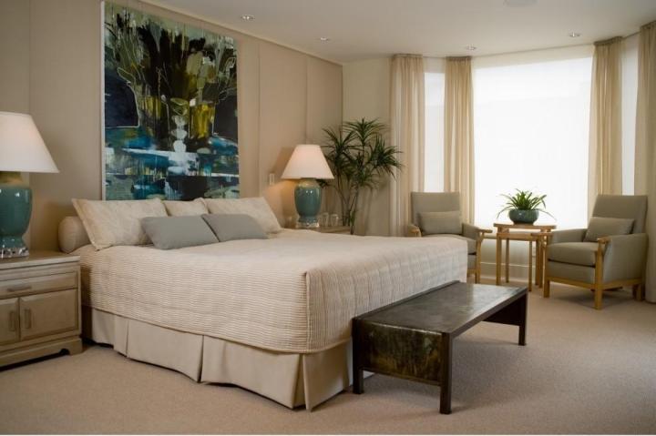 美式风格艺术卧室背景墙设计图