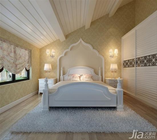 简单的欧式元素线条勾勒,放在卧室里装修一定非常素雅大气.图片