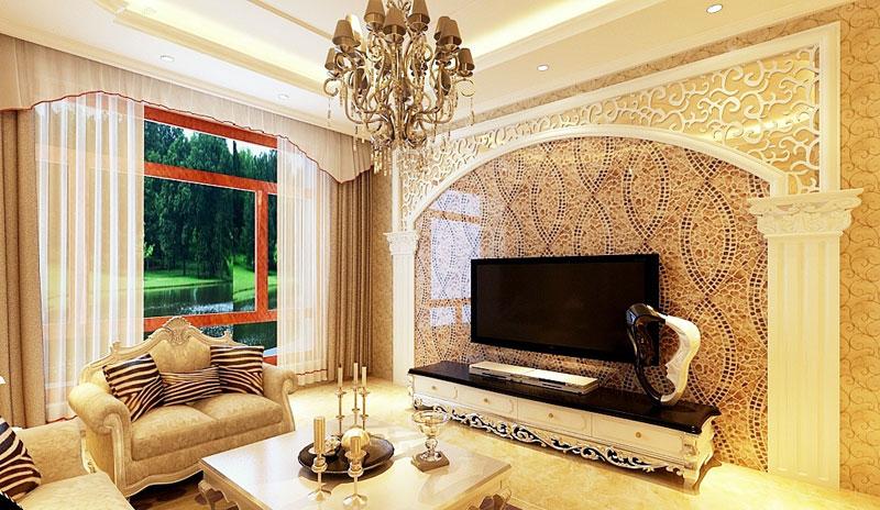 欧式风格大气电视背景墙装修效果图