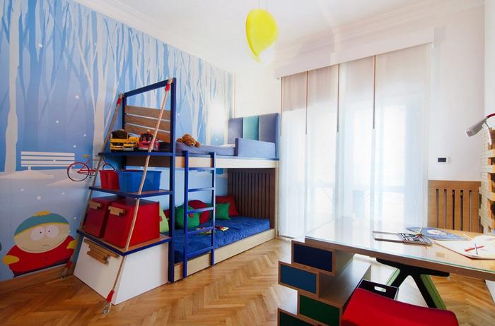 让孩子健康成长 19款儿童房手绘墙设计6/19