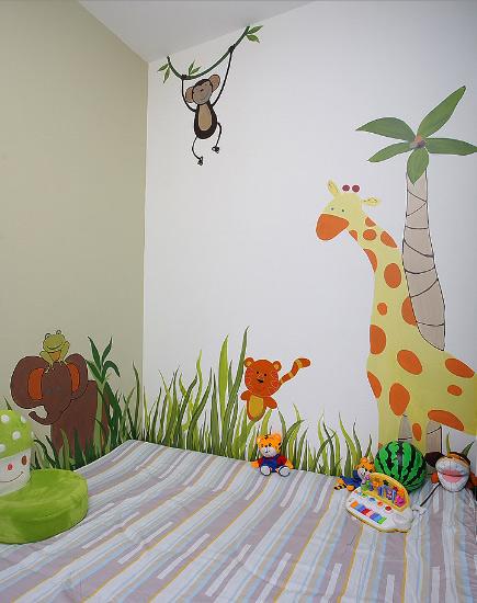 让孩子健康成长 19款儿童房手绘墙设计14/19