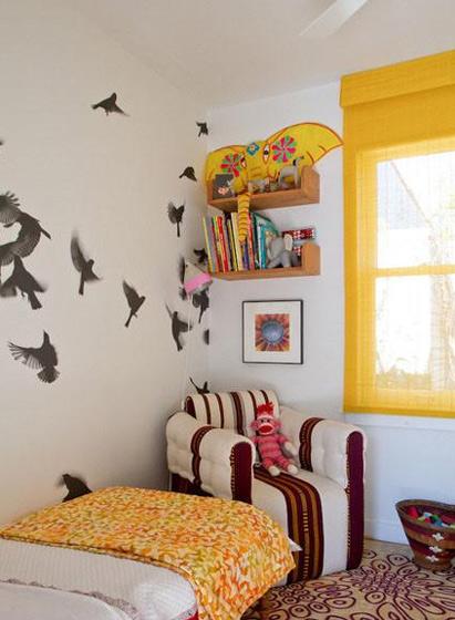 让孩子健康成长 19款儿童房手绘墙设计15/19
