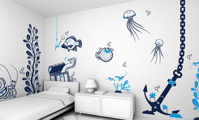 让孩子健康成长 19款儿童房手绘墙设计16/19