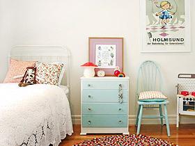 装饰兼具收纳 16款彩色床头柜装修图