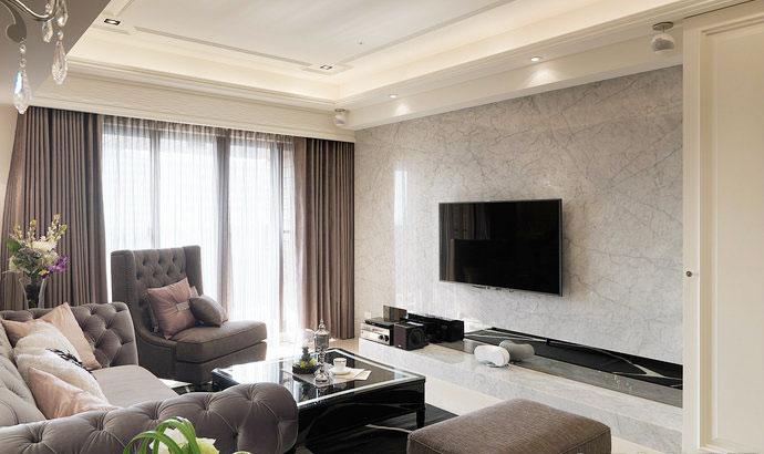 简约风格简洁电视背景墙装修效果图