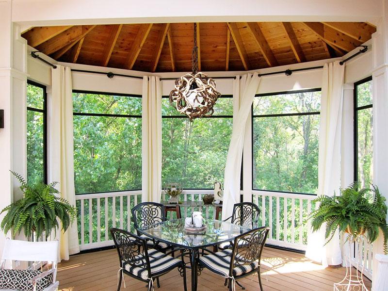 实用阳台窗帘窗帘效果图