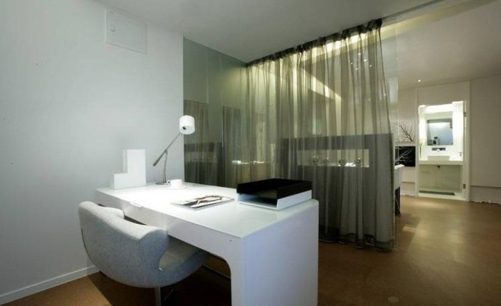 简约风格简洁白色书桌图片