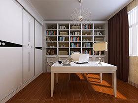 15款白色简约书桌设计图 简洁大方