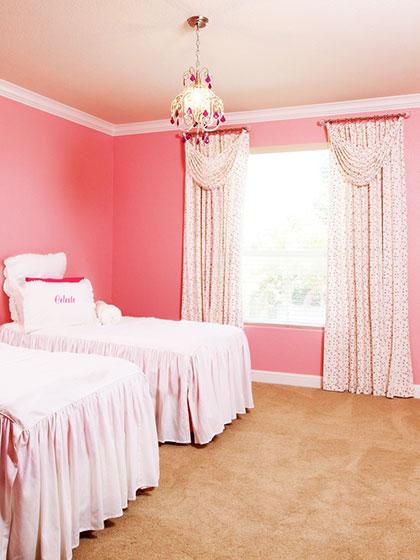 欧式风格卧室窗帘窗帘效果图