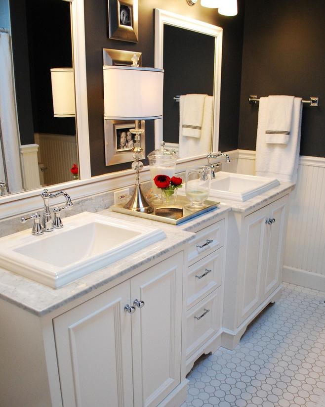 简约风格白色洗手台效果图