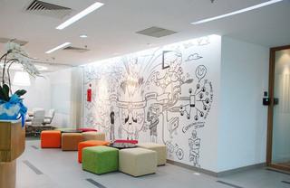 简约风格简洁手绘墙设计图