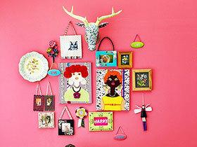 照片墙巧设计 13款DIY照片墙图片