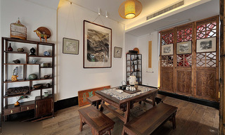 中式风格别墅稳重餐厅装潢