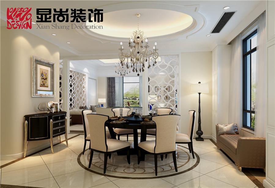 朗庭 上郡 别墅 简美风格装修效果图,室内设计效高清图片