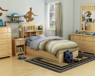 美式风格舒适儿童床效果图