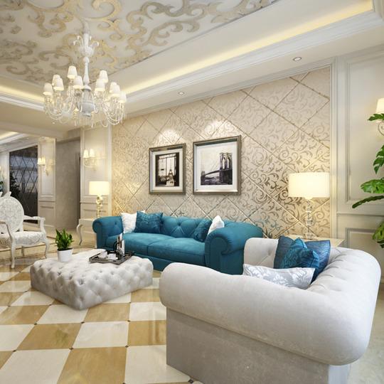 欧式沙发背景墙装修效果图大全2013图片