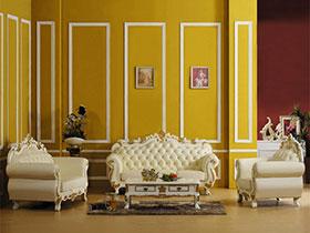 唯美欧式风 16张纯色沙发背景墙图片