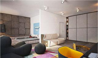 简约风格实用客厅客厅隔断装修图片