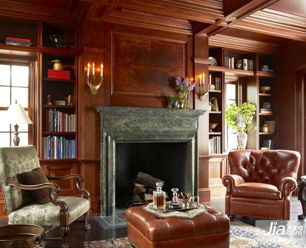 客厅装修效果图美式风格装修图片