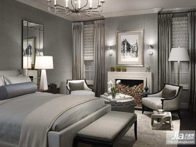 美式现代主卧室装修装修效果图