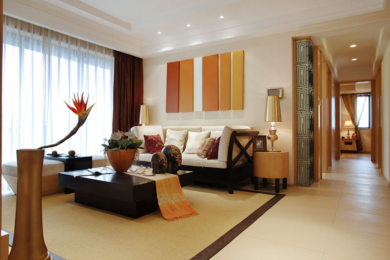 中式风格客厅过道装修效果图