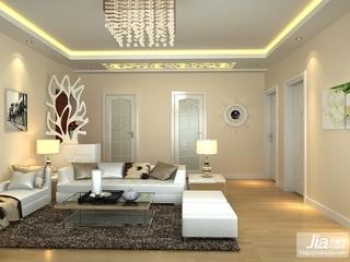 暖色调 时尚温馨的客厅装修效果图