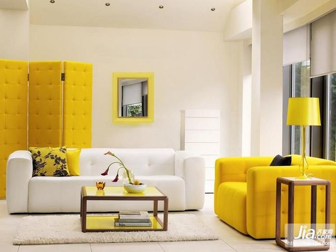 萤黄色打造现代简约风格复式楼装修效果图大全装修图片