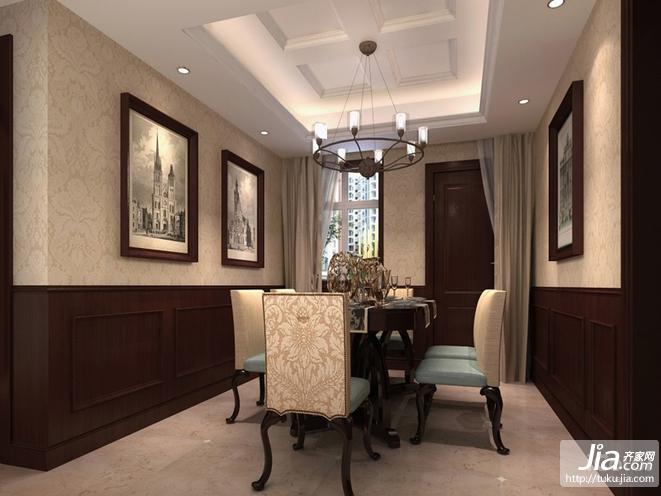 客厅地砖效果图 万景国际二居室120㎡装修图片