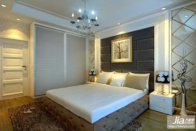 大气简约欧式风格卧室装修效果图