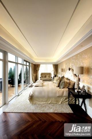 中海奥龙观邸别墅中式古典四居室装修效果图