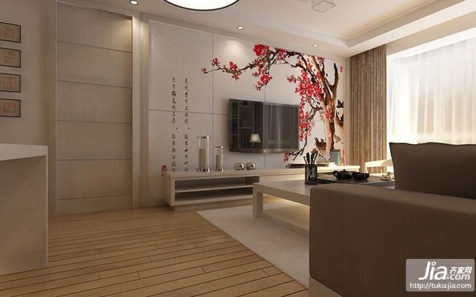 藝術家園二居室100平米裝修圖片