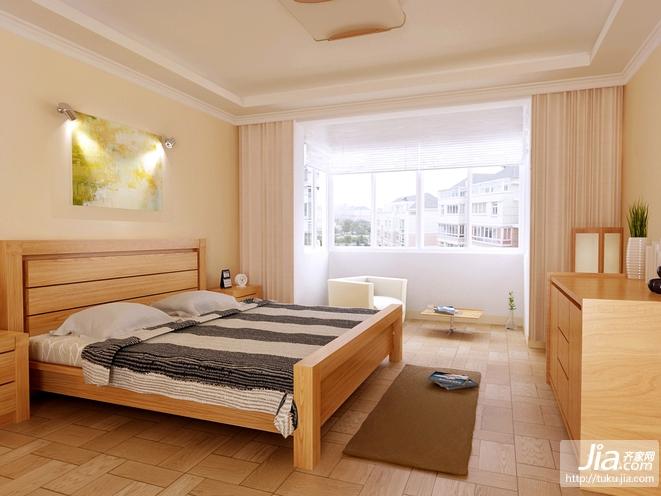木色系 简约实用的卧室设计装修效果图
