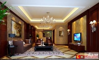 后现代中式客厅效果图装修效果图