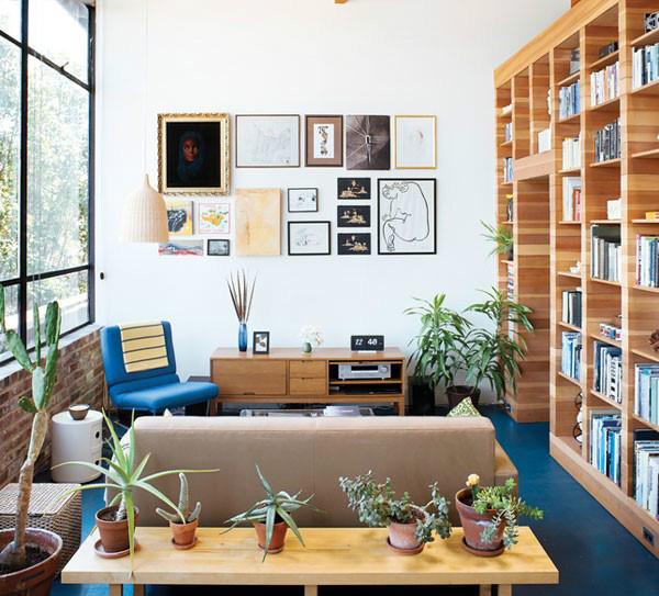美式风格原木色书桌效果图