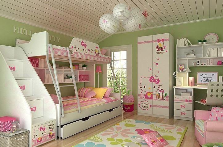 美式风格实用儿童床效果图