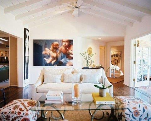 美式风格黑白沙发背景墙设计图