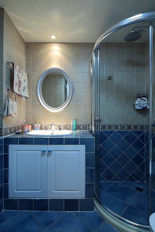 美式风格小清新蓝色装修效果图