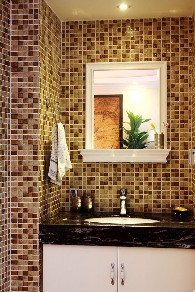 美式风格黄色洗手台效果图