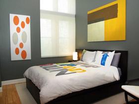 宁静的灰 17款卧室背景墙效果图